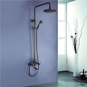 zeige details f r antik messing badewanne duschearmatur mit 8 zoll duschkopf handbrause top. Black Bedroom Furniture Sets. Home Design Ideas