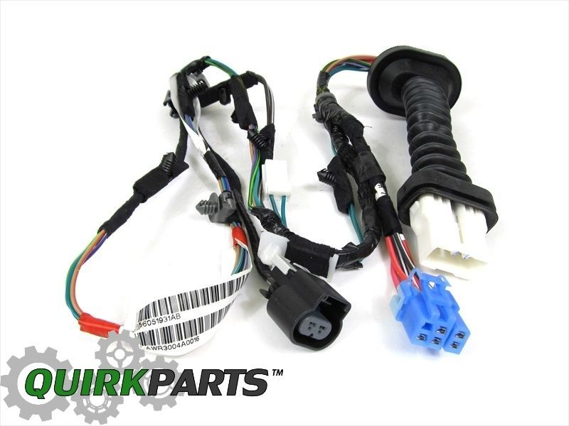 Details about DODGE RAM 1500 2500 REAR DOOR WIRING HARNESS ... on