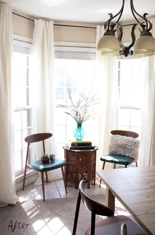 Ikea Aina White Linen Curtains