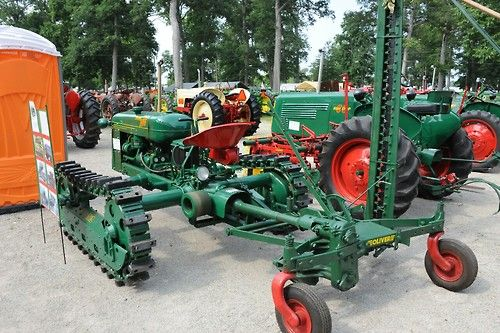 1950 oliver hg 68 crawler with sickle bar mower trac 39 s - Sickle bar mower for garden tractor ...