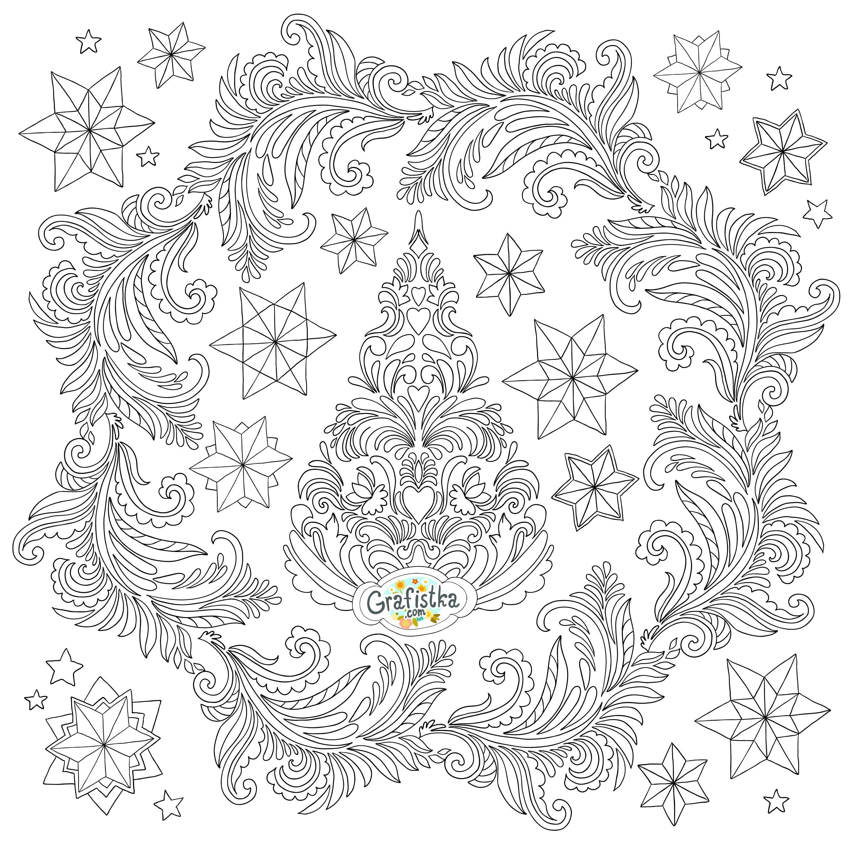 Раскраска новогодняя елка | Раскраски, Бесплатные ...