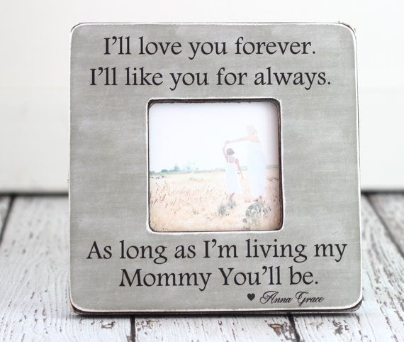 Mom Gift Personalized Picture Frame Mom Mum Custom Gift I\'ll Love ...