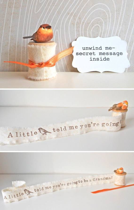 2d141eaf39070 A cute way to tell someone they are going to be a grandma. | Gift ...