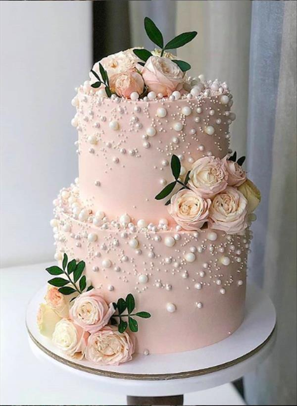40 Elegant Wedding Cakes With Cupcakes And Flowers The First Hand Fashion News For Females In 2020 Buttercream Wedding Cake Simple Wedding Cake Floral Wedding Cakes