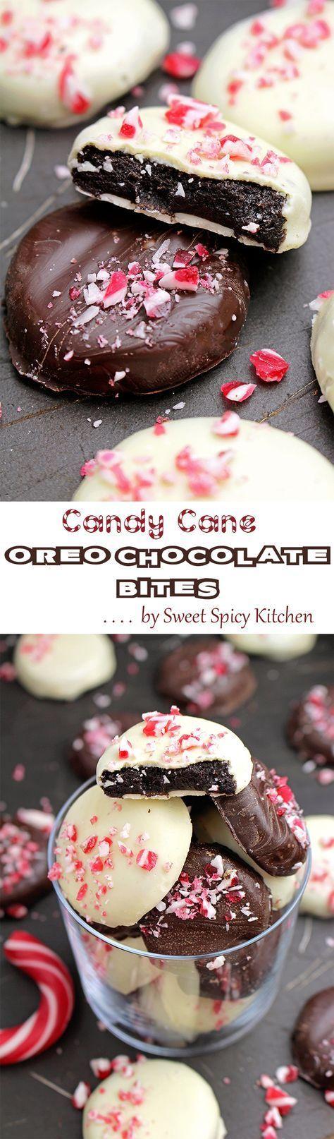 Candy Cane Chocolate Oreo Bites Recipe Oreo bites