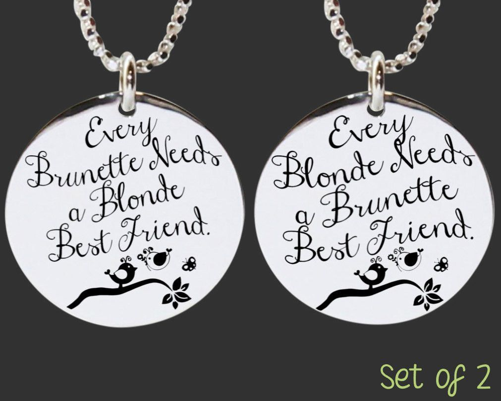 Every blonde needs a brunette best friendEvery brunette needs a blonde best friend wine glasses Hand Painted Set of 2
