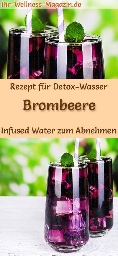 Brombeer-Wasser - Rezept für Infused Water - Detox-Wasser
