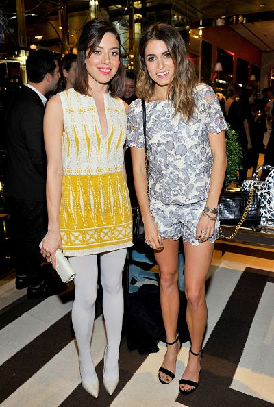 2e6e1bdbaa2 Aubrey Plaza and Nikki Reed attend Vogue and Tory Burch celebrate the Tory  Burch Watch Collection at Tory Burch on November 11