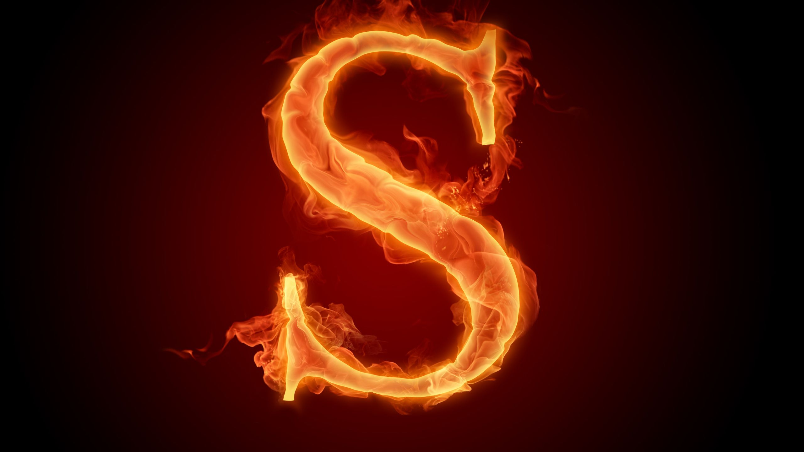 s, alphabet, letter, flame, fire, wallpaper, letter photo