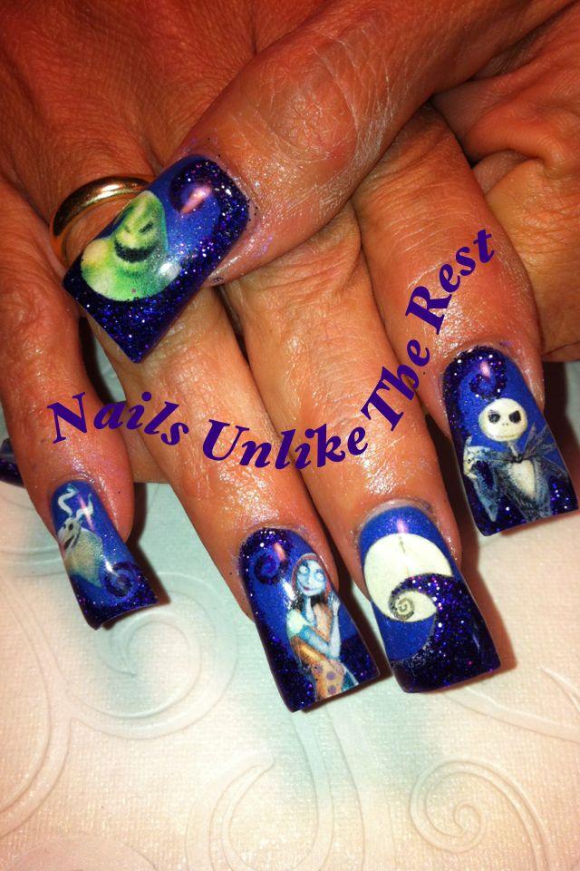 Nightmare Before Christmas nail art | Nightmare Before Christmas ...