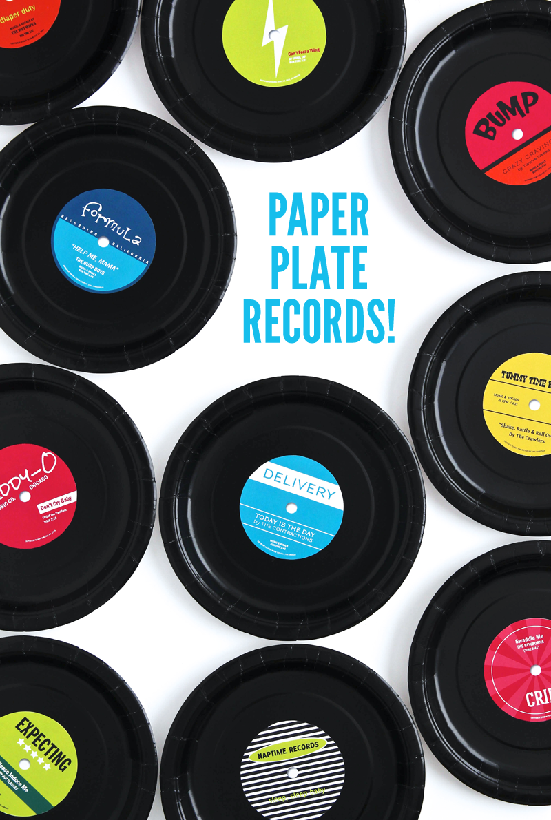 Check out these DIY Paper Plate Records using this cute printable