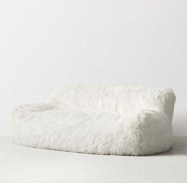 Berlin Lounge Kashmir Faux Fur Sofa