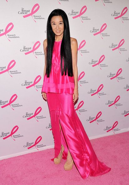 Vera Wang Evening Dress | Pink parties, Hot pink and Silk