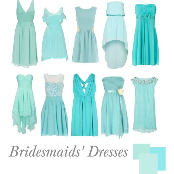 Bridesmaids Dresses Tiffany Blue By Pinkrubbersoul On Polyvore This Will Come