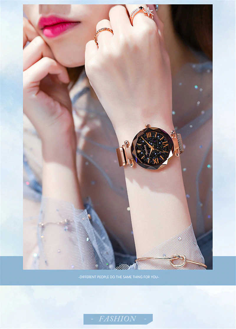 Insnic Luxury Magnetic Starry Sky Wrist Watch Wristwatch Fashion Women Wrist Watch Womens Watches