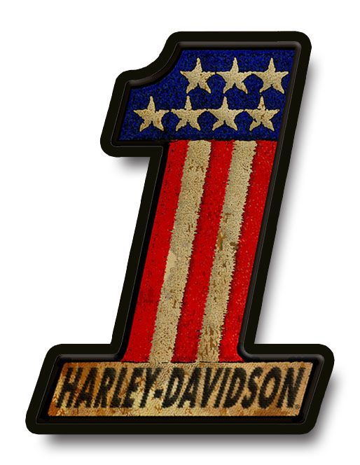 This wooden sign has been inspired by vintage Harley-Davidson® patches. The  sign is made from two layers of wood creating a 3D effect. c12833d3d6f8