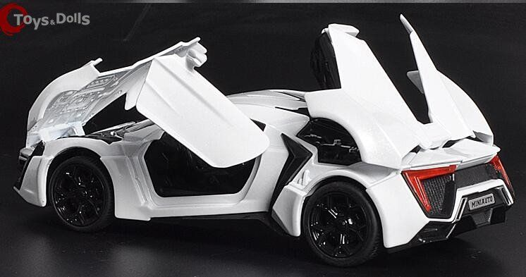 Scale Color Alloy Lykan Hypersport Toy Car Fast Furious