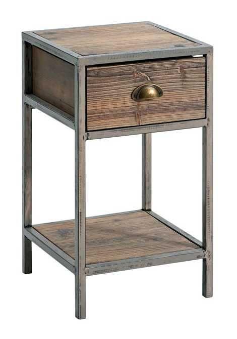 M tal et bois wood furniture in 2019 muebles hierro y for Muebles industriales metal baratos