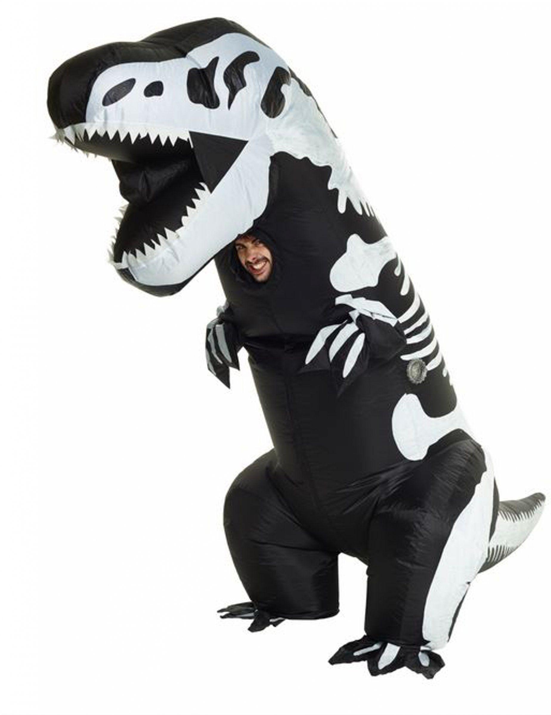d91ab6b1fe2e4b Déguisement gonflable squelette T-rex adulte Morphsuits™   Ce déguisement  de squelette T-