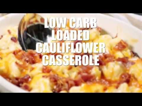 This Low Carb Loaded Cauliflower Bake is an easy low carb recipe that makes a great low carb side dish for Thanksgiving, Christmas, or weeknight dinner! #loadedcauliflowerbake This Low Carb Loaded Cauliflower Bake is an easy low carb recipe that makes a great low carb side dish for Thanksgiving, Christmas, or weeknight dinner! #loadedcauliflowerbake