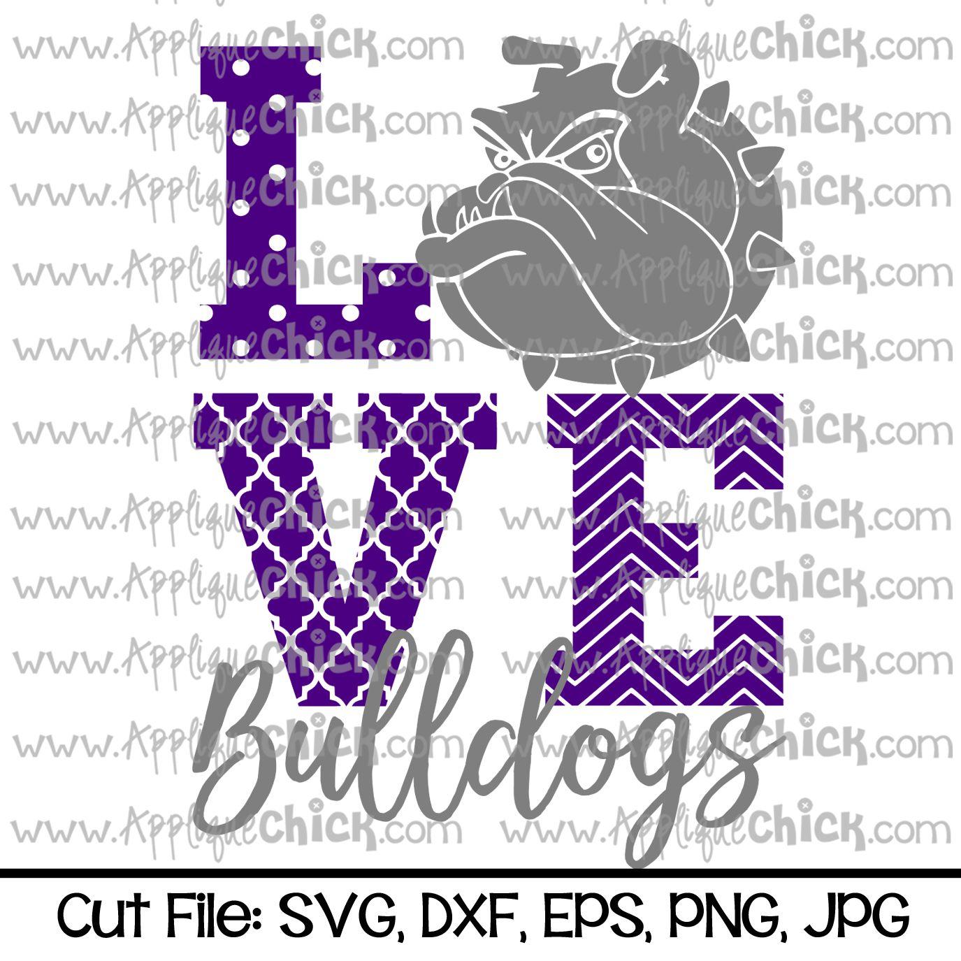 Download Love Bulldogs SVG   Spirit shirts, School spirit shirts ...