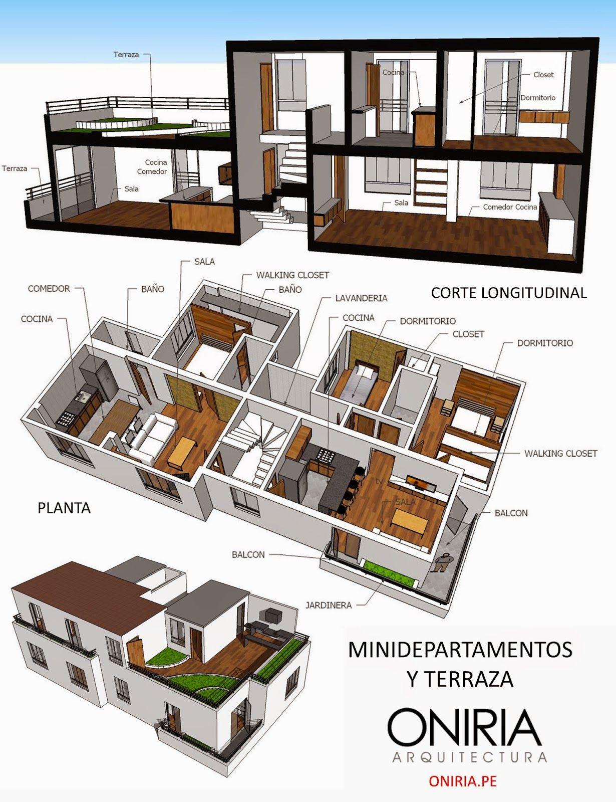 Oniria dise o de minidepartamentos oniria arquitectura for Diseno minidepartamento