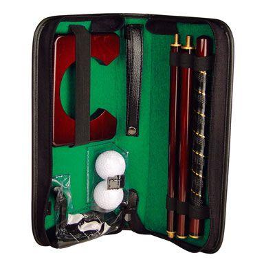 Set Golf - Tarifs sur devis (contact@objetpubenligne.com) -  TO557165 Set de golf dimensions art : 32 x 14,5 x 5 cm dimensions marquage : 6 x 4 cm colisage : [20 / 20] couleurs : noir
