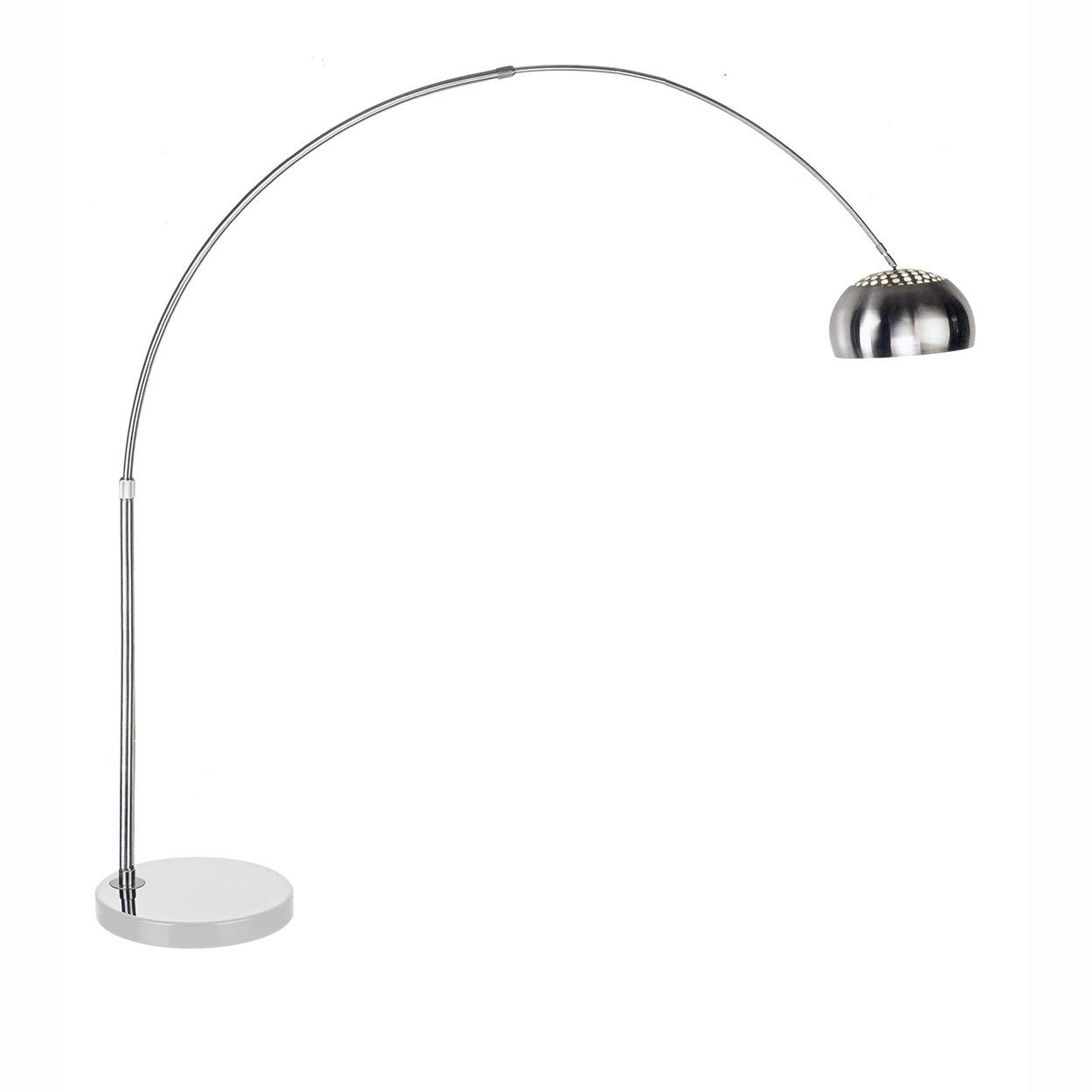 Mid Century Modern Reproduction Arco Floor Lamp Round White Marble Base Inspired By Achille Castiglioni