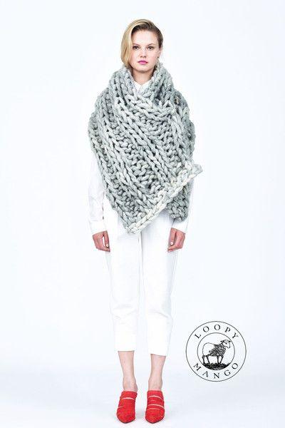 Nantucket Wrap Toller Schal Dicke Wolle Knitulator Sammelt Ideen