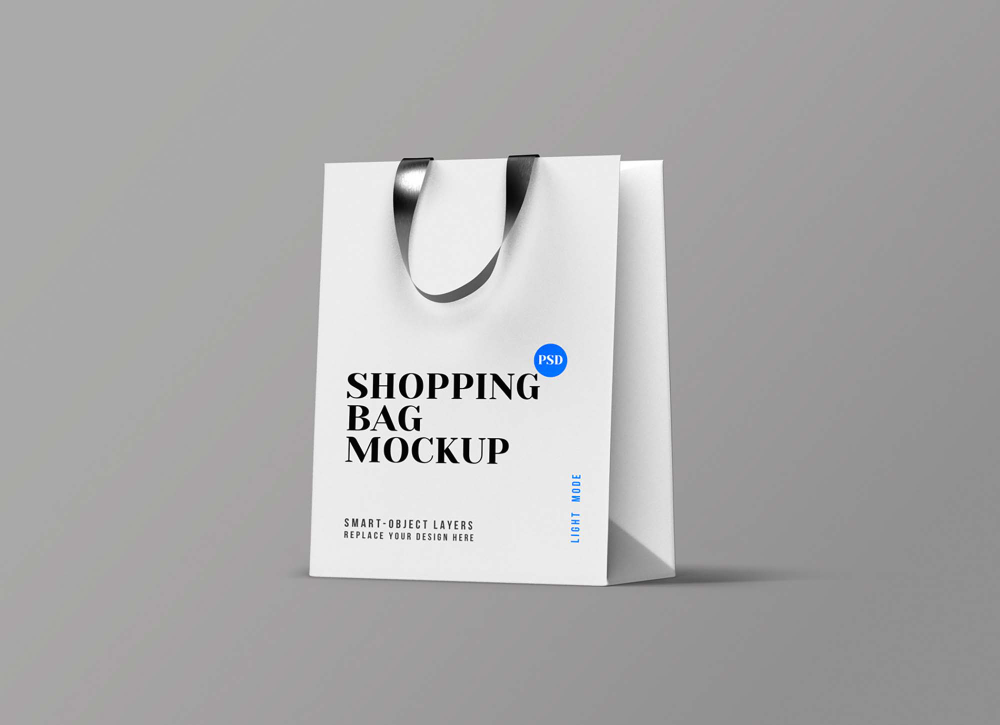 Download Free Paper Perspective Shopping Bag Mockup Psd Bag Mockup Free Packaging Mockup Psd Templates