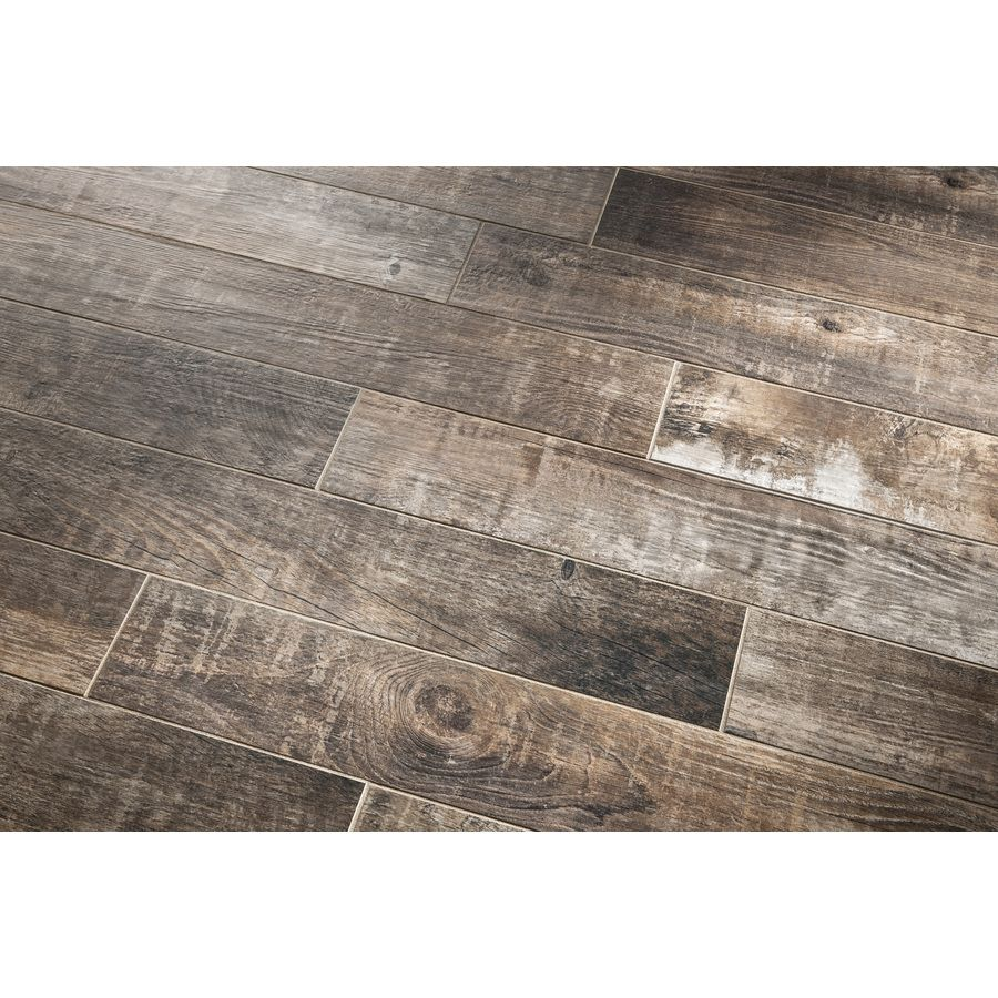 Style Selections Sequoia Ballpark Glazed Porcelain Indoor Outdoor Floor Tile Common 6 In X 36 Actual 5 79 35 96 At Com