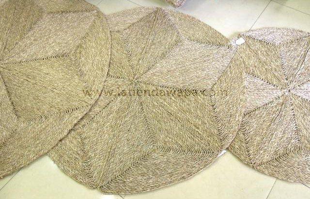Alfombras de mimbre redondas alfombras tapices - Alfombras redondas ...