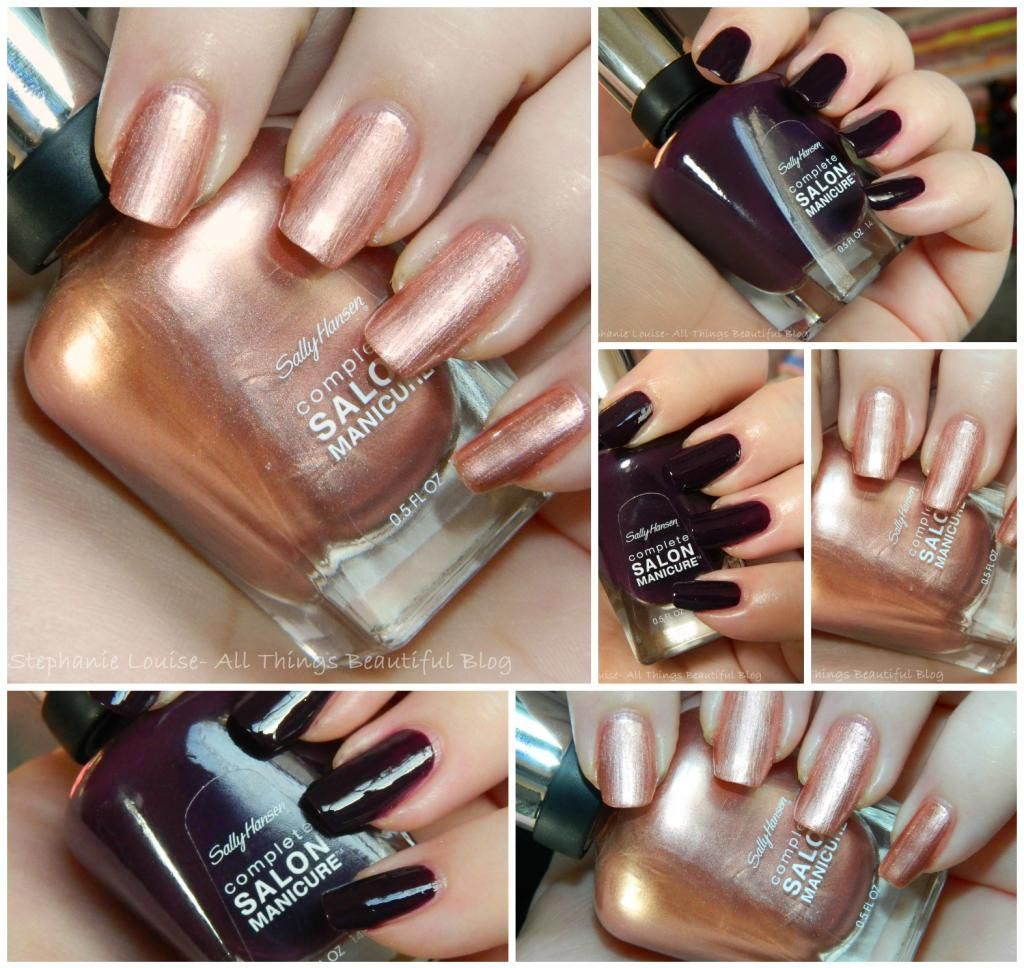 Sally Hansen Complete Salon Manicure Fall 2017 Nail Polishes In Malbec Gold Roses Just Bought The Rose Color So Perfect For My Break Mani D
