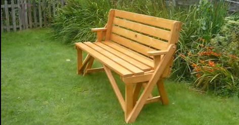 Park Bench Converts To Picknick Table Great Design