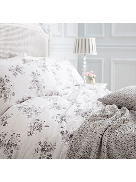 Grey Rose Bed Linen Shabby Chic At House Of Fraser