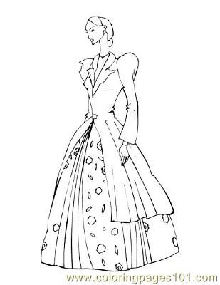 Coloring Page For Kids And Adults From Peoples Pages Fashion