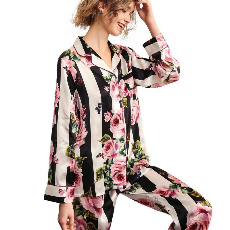 Bridesmaid pyjamas Night Shut Floral Printed Silk Pajama Night Set Trouser Shirt Set Silk Stylish Pajama Set Women Silk Pajama Shirt