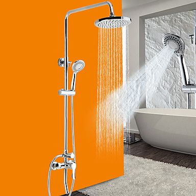 Luxury New Arrival Rainfall Shower Set Faucet Tub Mixer Tap Hand Held  Shower Bath And Shower