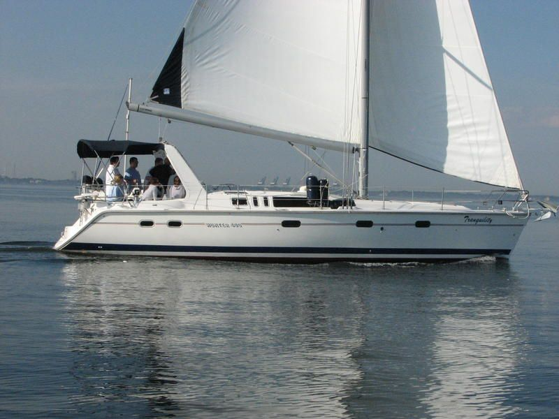 1996 Hunter 430 Located In Texas For Sale Wj Hunter Sailboats