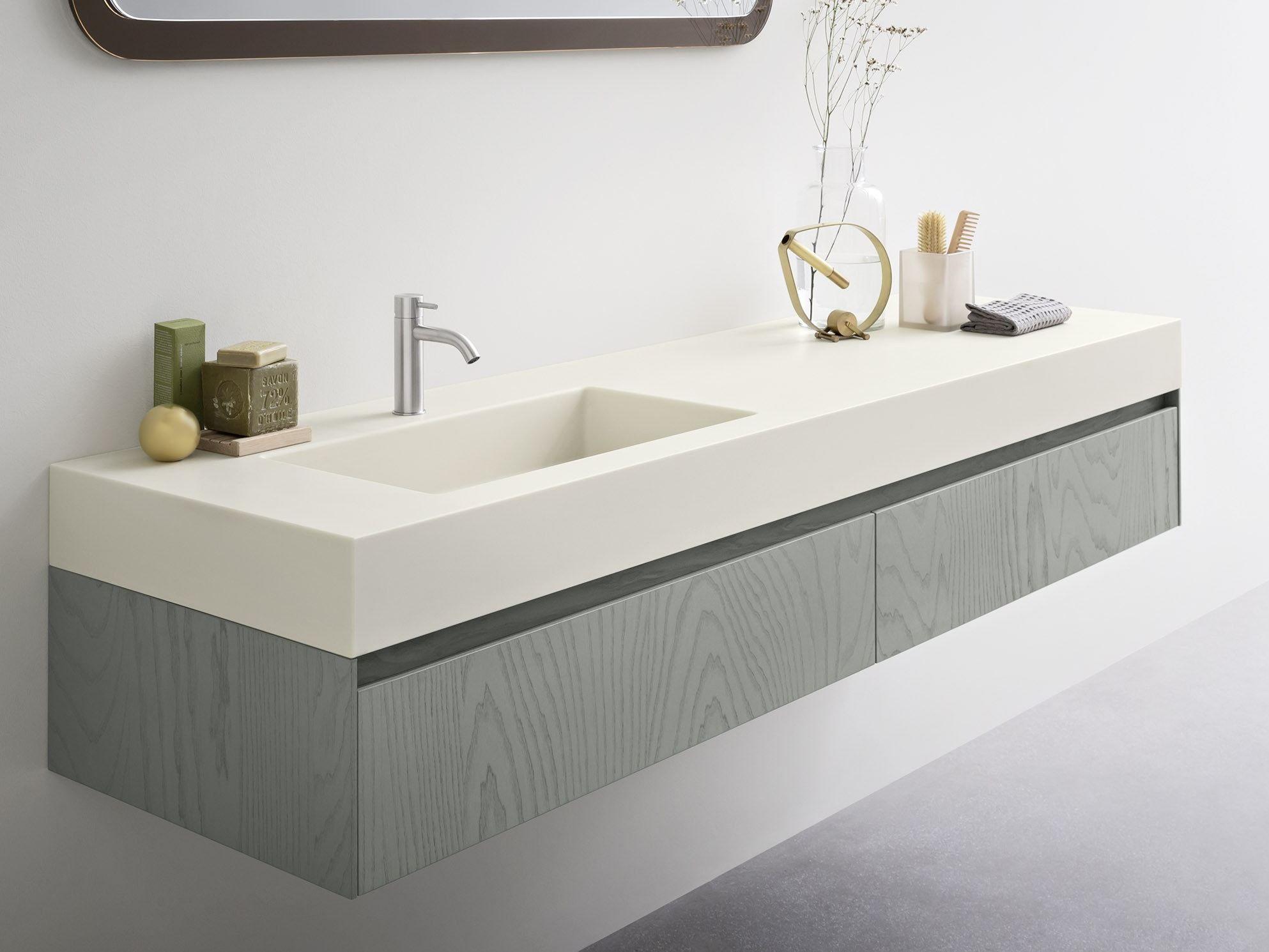 Piano Lavabo In Corian moode | corian® washbasin countertop by rexa design (con