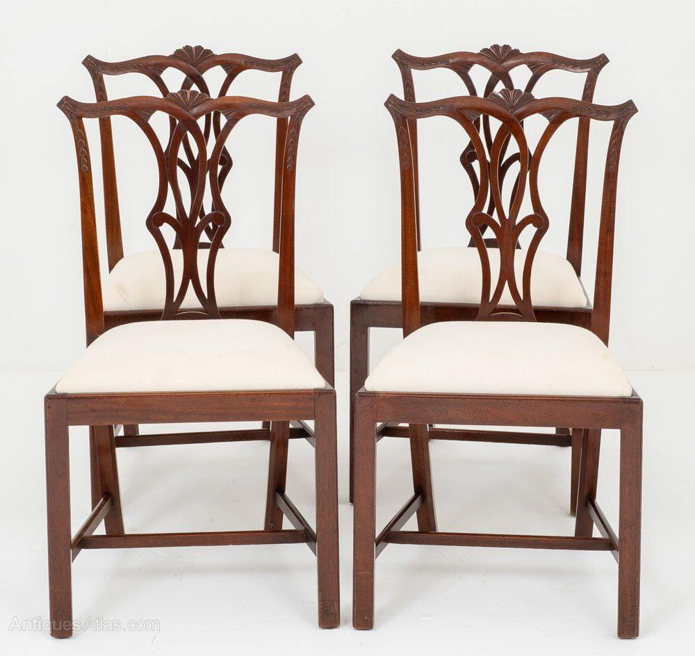 Set Of 4 Mahogany Chippendale Style