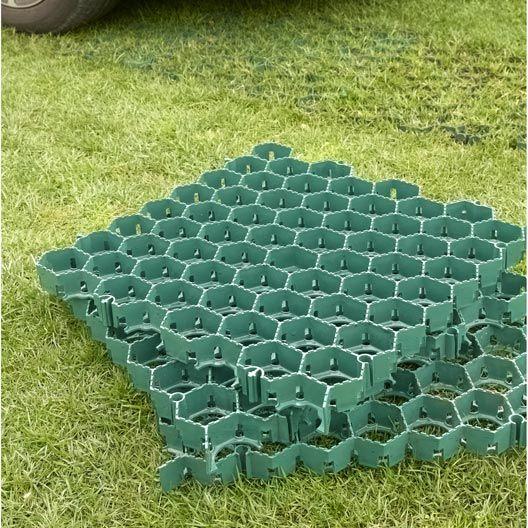 Dalle Gazon En Polyethylene Vert L 50 X L 50 Cm X Ep 38 Mm Gazon Tapis Exterieur Moquette Exterieur