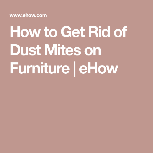 How To Get Rid Of Dust Mites On Furniture Ehow Dust Mites How To Get Rid Fever Blister
