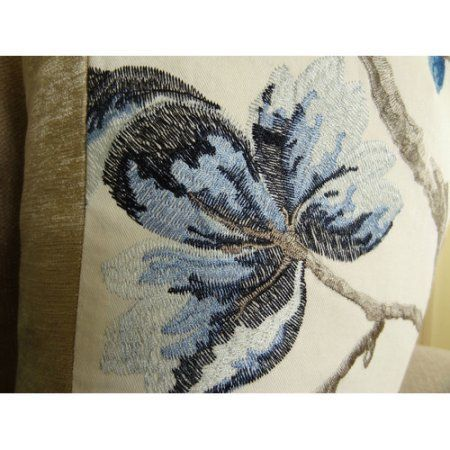 Plutus Bloom City Handmade Throw Pillow, Double Sided, Multicolor