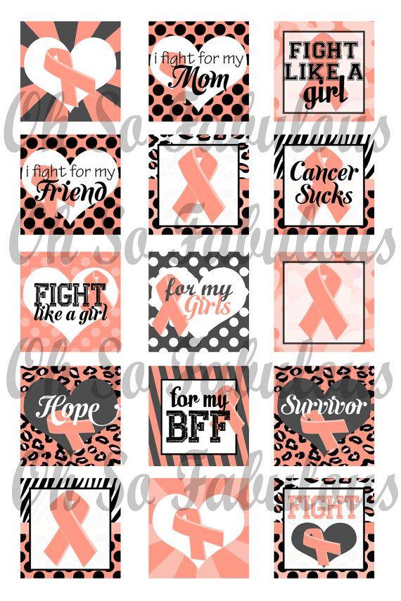 Uterine Cancer Awareness Peach Ribbon 1 Inch By Ohsofabulous My