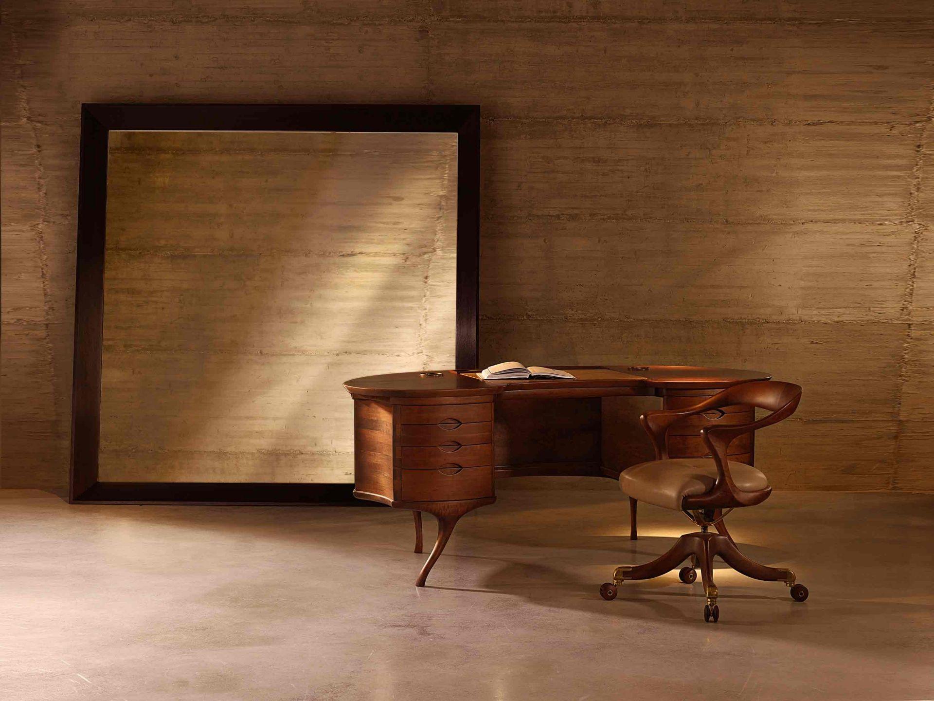 Ceccotti Collezioni Bean Writing Desk Marlowe Chair On Wheels