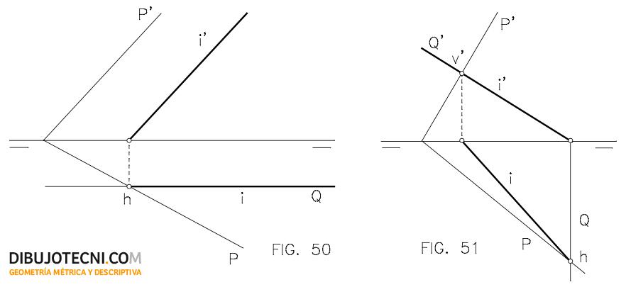 Sistema Diedrico Intersecciones Dibujo Tecnico Tecnicas De Dibujo Geometria Descriptiva Planos