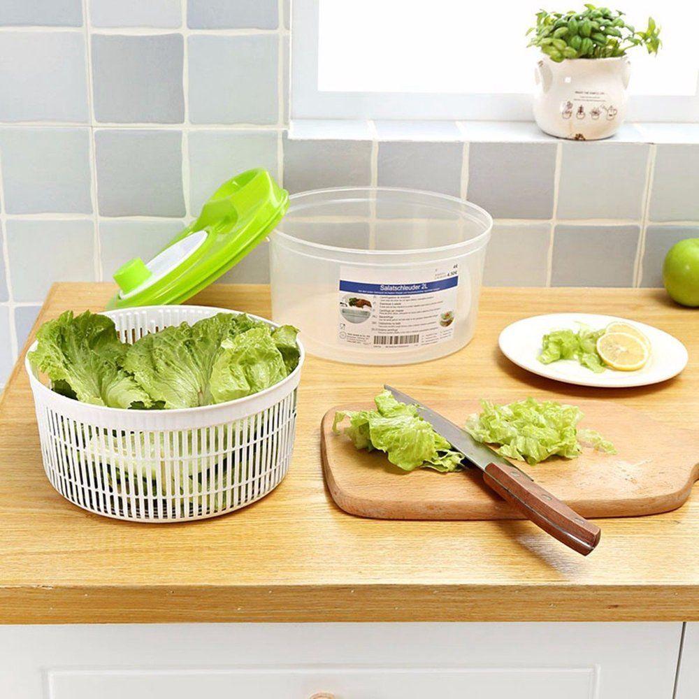 Large Salad Spinner Lettuce Dryermanual Vegetable Washer Dryer Easy Spin Veggie Dry