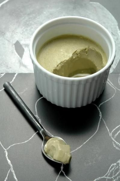Mint green tea pudding. Easy, healthy, and fills the craving for something sweet!