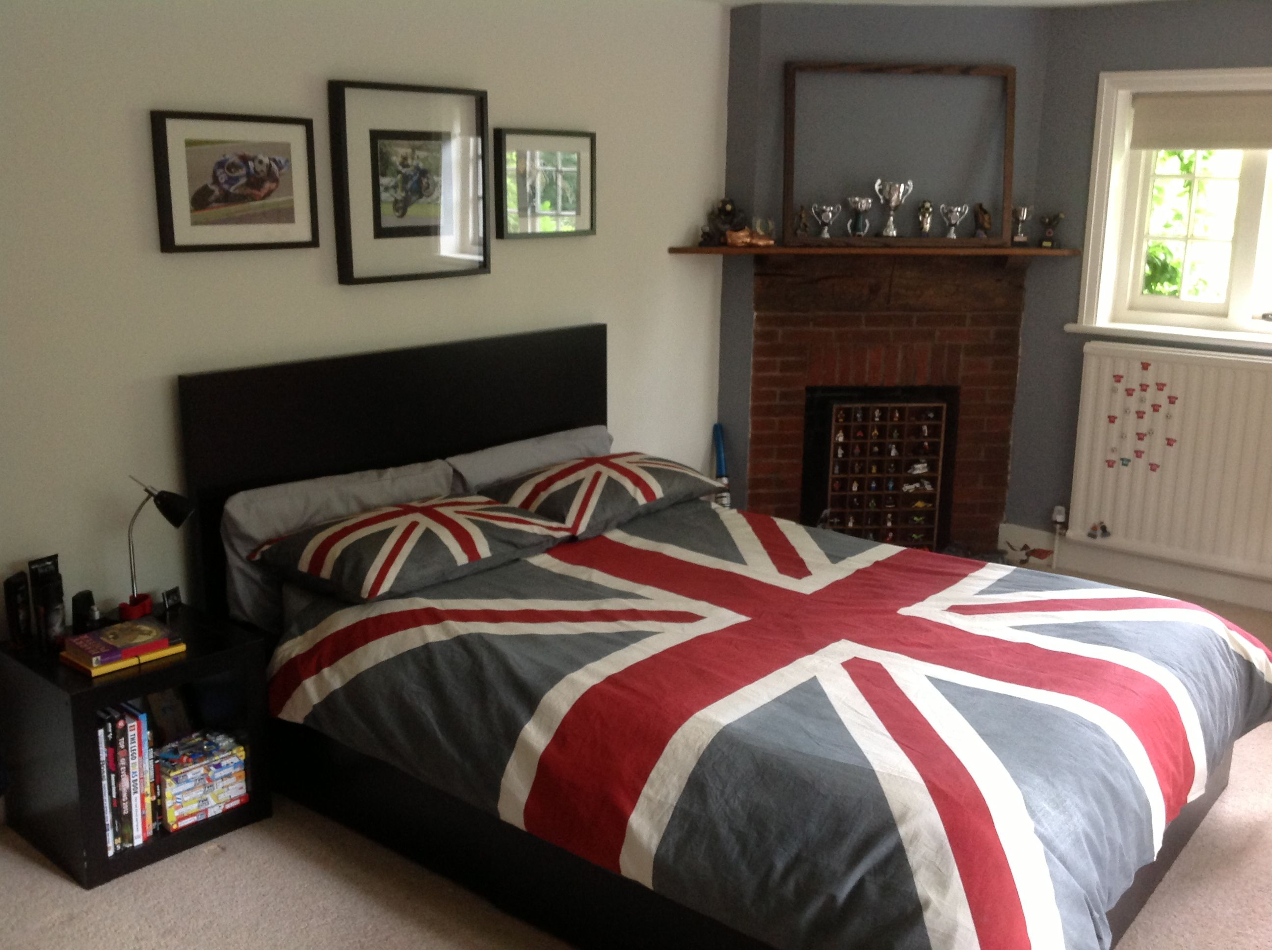 Vintage style union jack bed cover v